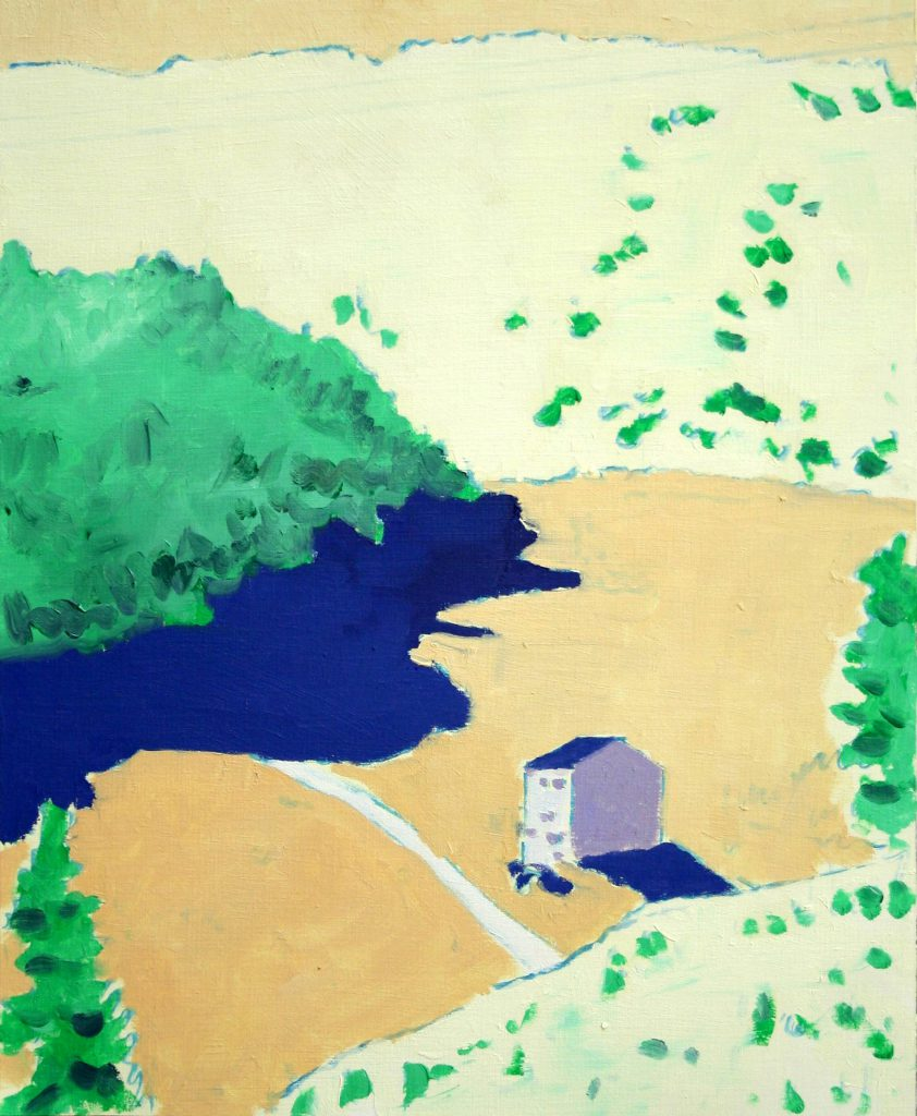 <h2>o. T. (Landschaft)</h2><p>Öl auf Papier <span>|</span>35 x 28,4 cm <span>|</span>2019</p>