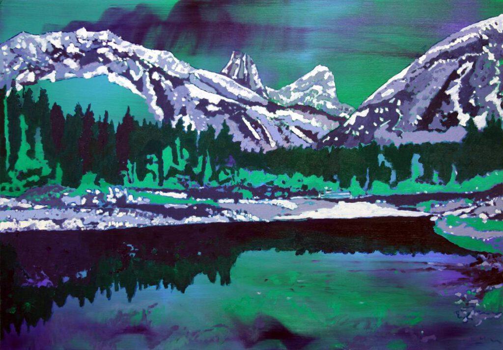 <h2>Silent lake</h2><p>Öl auf Leinwand <span>&nbsp;|&nbsp;</span>70 x 100 cm <span>&nbsp;|&nbsp;</span>2017</p>