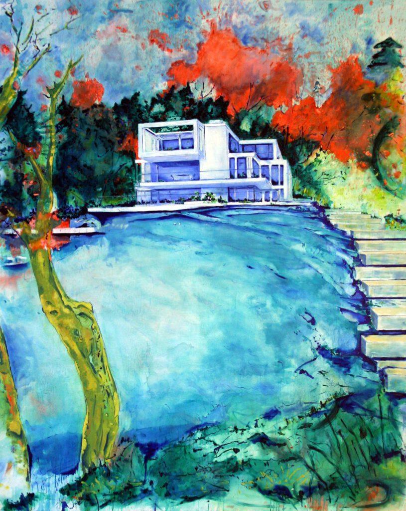 <h2>Villa</h2><p>Öl auf Leinwand <span>&nbsp;|&nbsp;</span>160 x 200 cm <span>&nbsp;|&nbsp;</span>2008</p>
