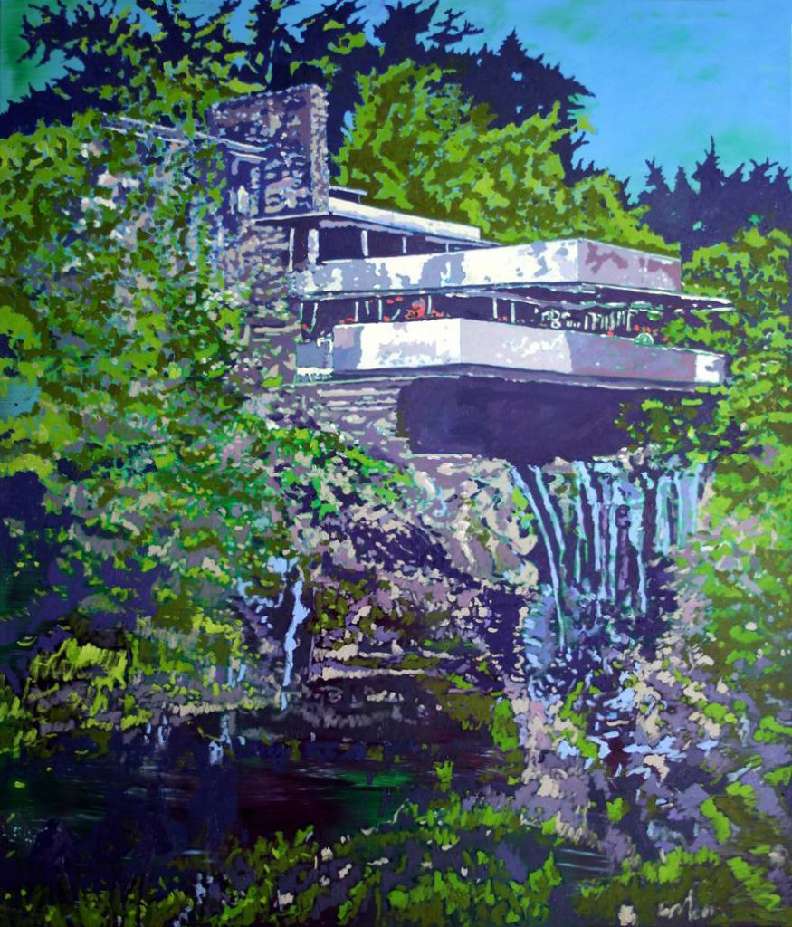 <h2>Waterfall</h2><p>Öl auf Leinwand <span>|</span>140 x 120 cm <span>|</span>2018</p>
